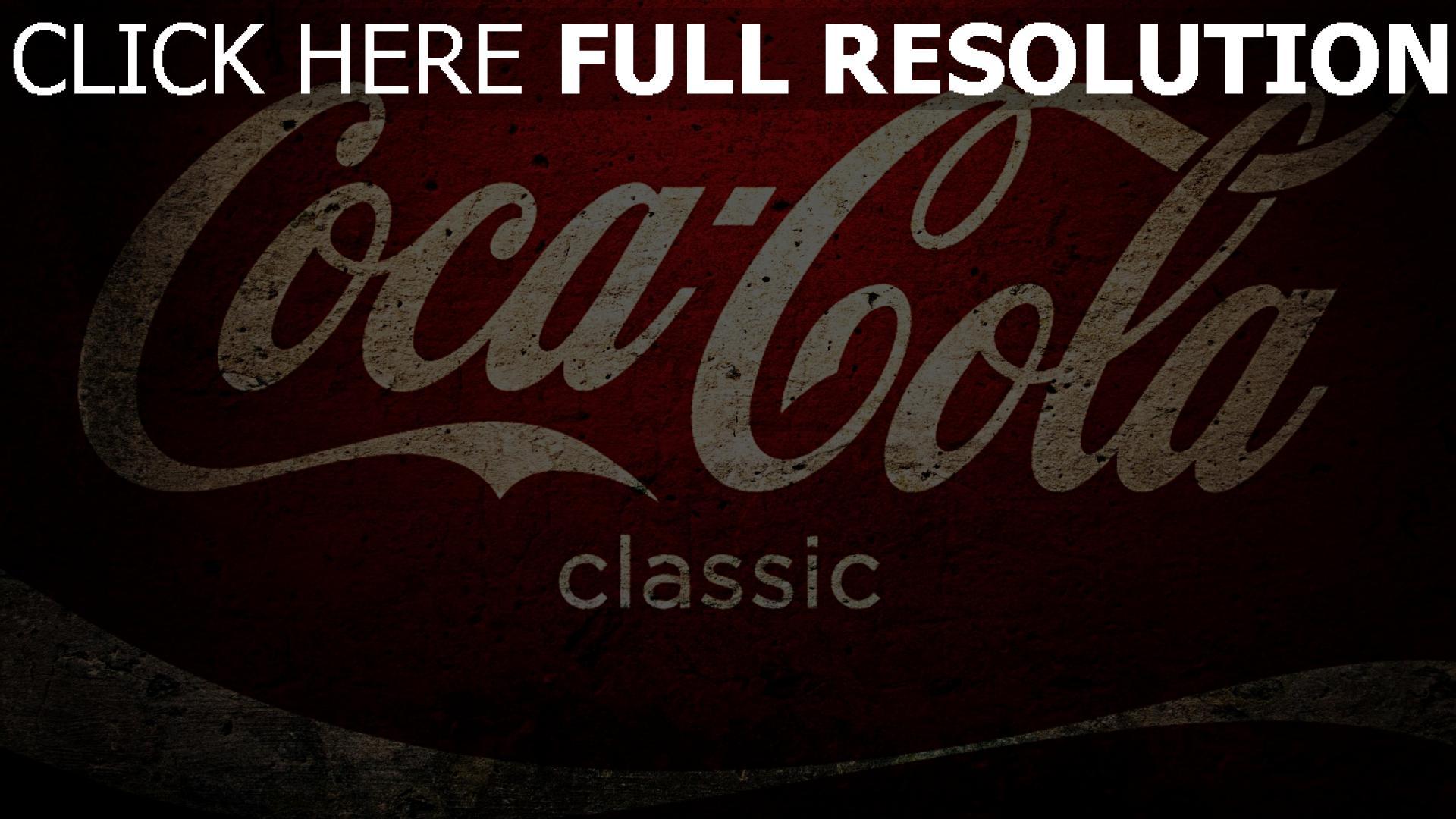 hd hintergrundbilder coca cola logo weiß rot textur 1920x1080