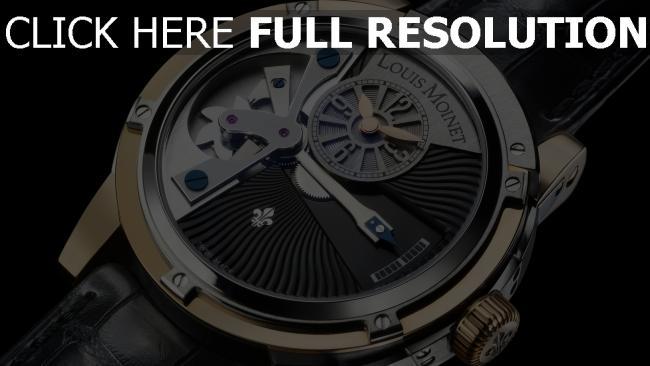 hd hintergrundbilder louis moinet armbanduhr armband schwarz