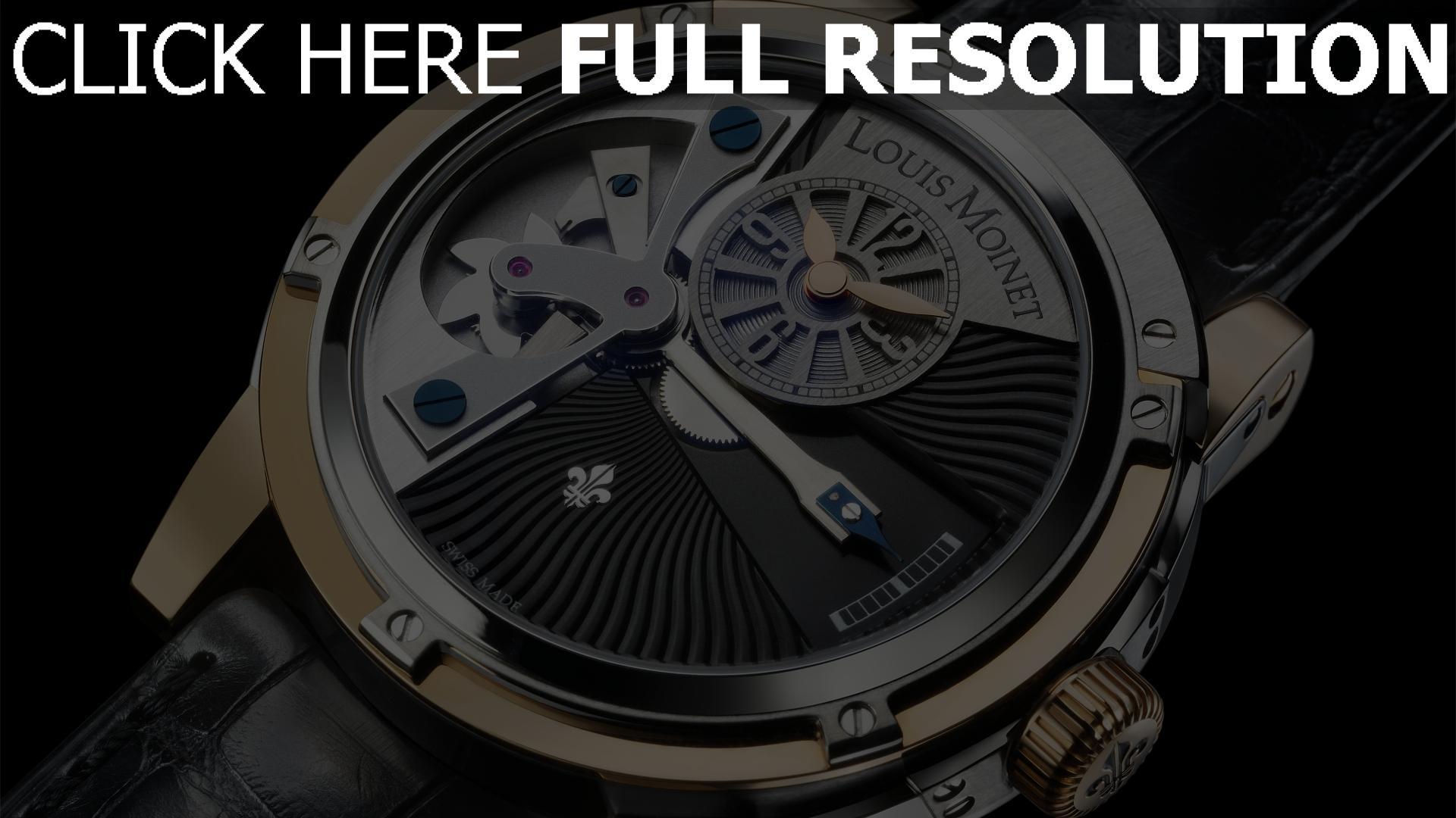 hd hintergrundbilder louis moinet armbanduhr armband schwarz 1920x1080