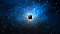 apple mac sterne raum blau lichter