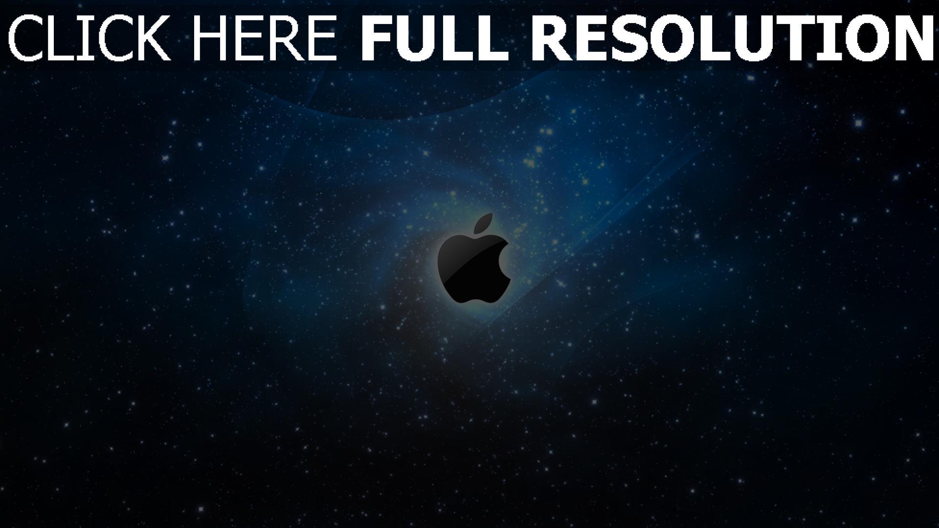 hd hintergrundbilder apple mac sterne raum blau lichter 1920x1080