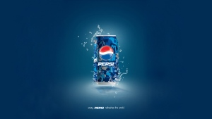 pepsi bank getränk blau logo