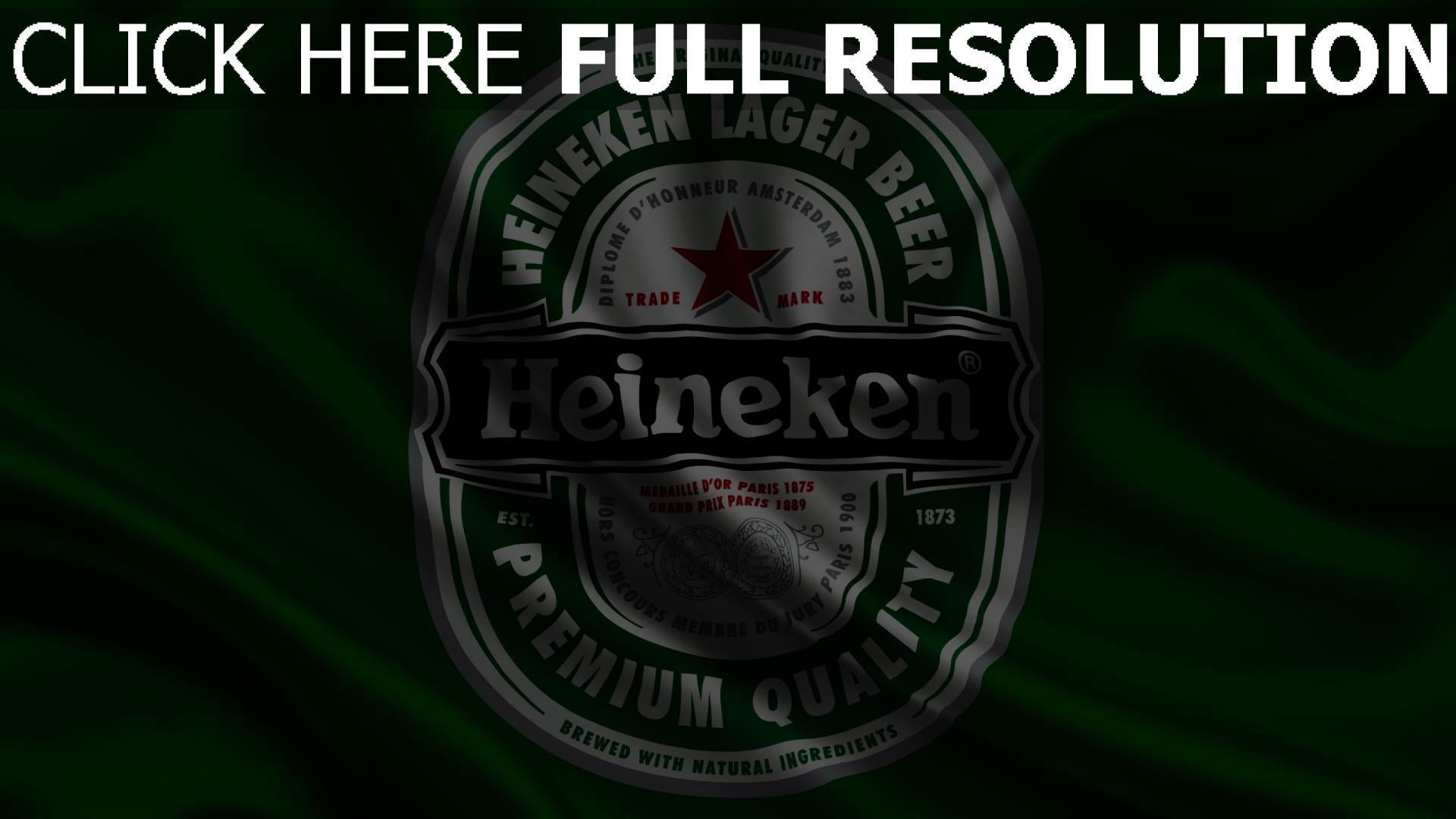 hd hintergrundbilder heineken logo grün satin stoff 1920x1080