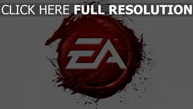 hd hintergrundbilder ea logo rot drache blut