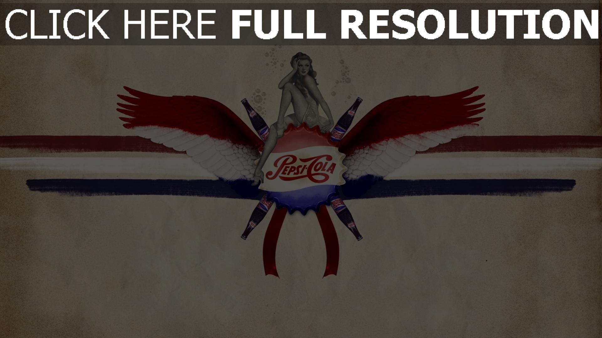 hd hintergrundbilder pepsi-cola cola getränk gasierte logo 1920x1080