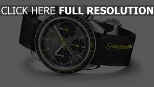 omega speedmaster armbanduhr stahl schwarz