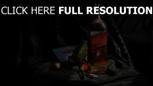 johnnie walker red label whisky gesetzt alkohol