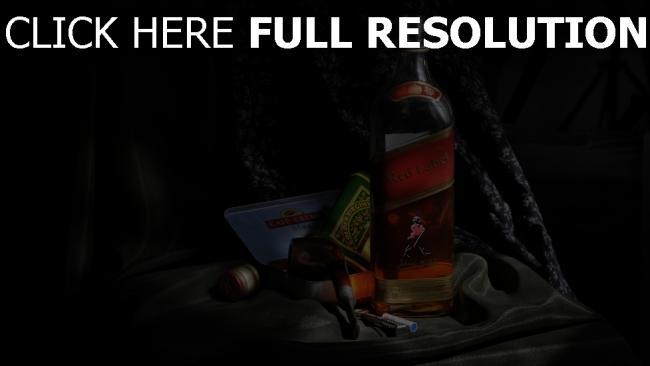 hd hintergrundbilder johnnie walker red label whisky gesetzt alkohol