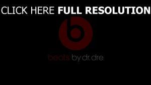 beats by dr dre logo kopfhörer musik dunkel