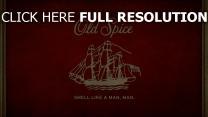 old spice logo emblem rot schiff