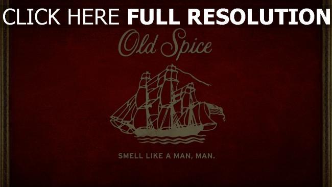 hd hintergrundbilder old spice logo emblem rot schiff