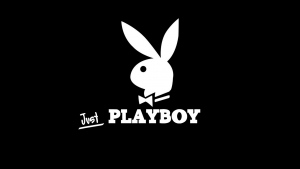 playboy bunny logo symbol schwarzes hintergrund