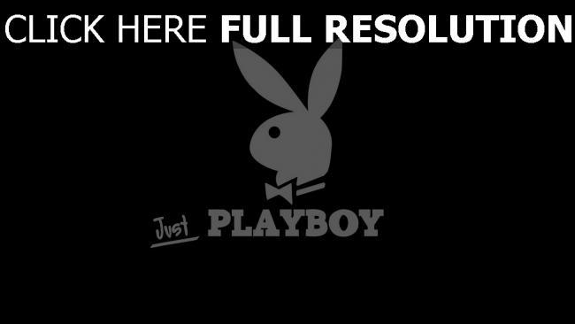 hd hintergrundbilder playboy bunny logo symbol schwarzes hintergrund
