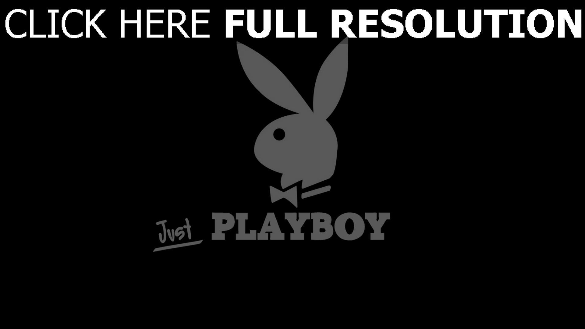 hd hintergrundbilder playboy bunny logo symbol schwarzes hintergrund 1920x1080