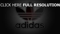 adidas company logo zeichen emblem grau