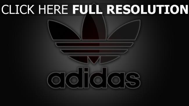 hd hintergrundbilder adidas company logo zeichen emblem grau