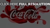 coca-cola logo trinken unternehmen muster