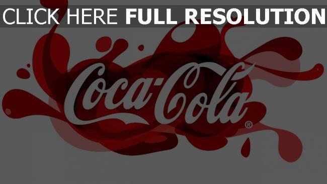 hd hintergrundbilder coca-cola logo trinken unternehmen muster