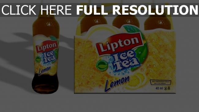 hd hintergrundbilder lipton ice tea trinken tee zitrone frisch