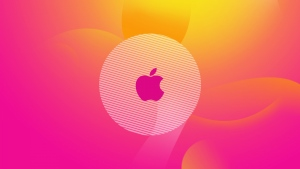 apple logo rosa rund klar