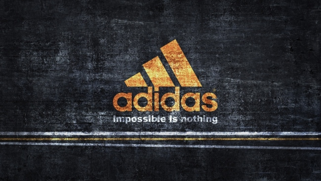 hd hintergrundbilder adidas logo orange hintergrund grauen streifen