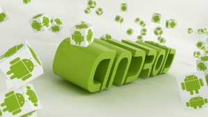 android logo grün buchstaben 3d