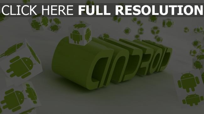 hd hintergrundbilder android logo grün buchstaben 3d