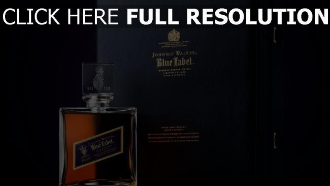 hd hintergrundbilder johnnie walker blue label parfüm logo stil