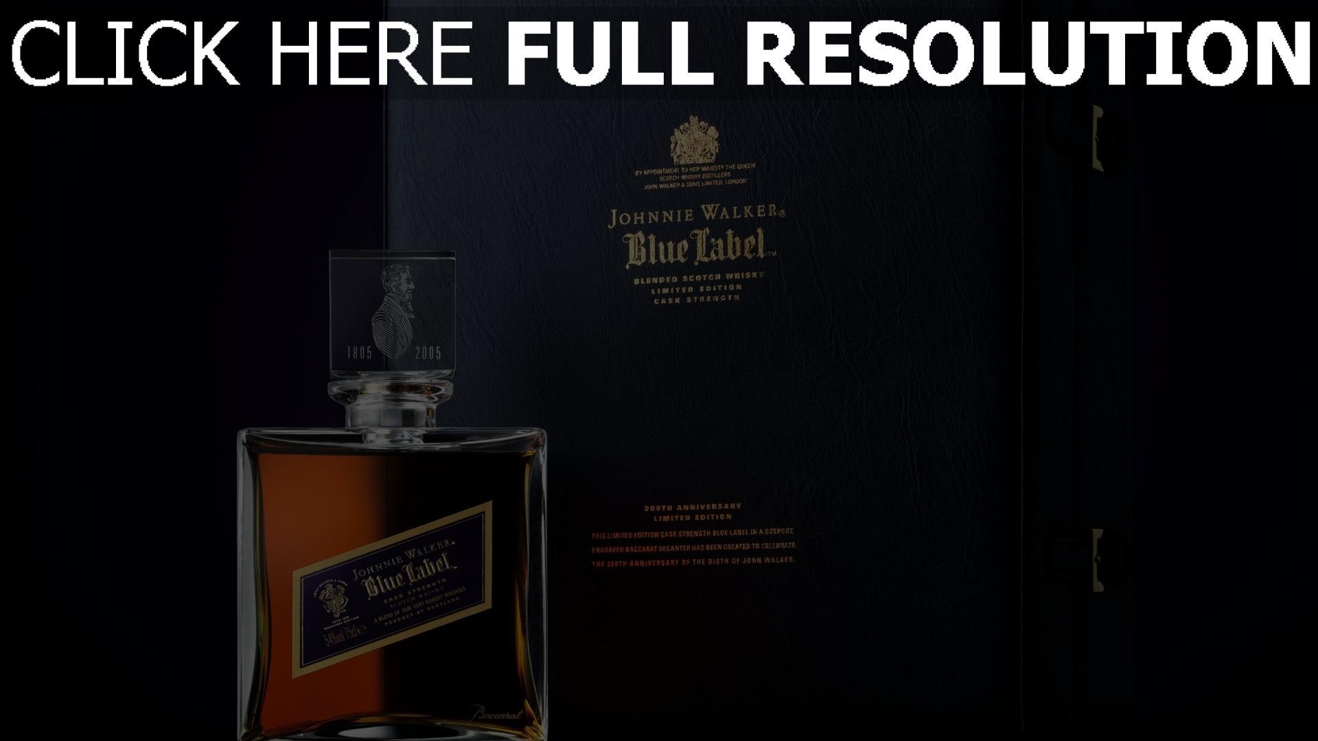 hd hintergrundbilder johnnie walker blue label parfüm logo stil 1920x1080