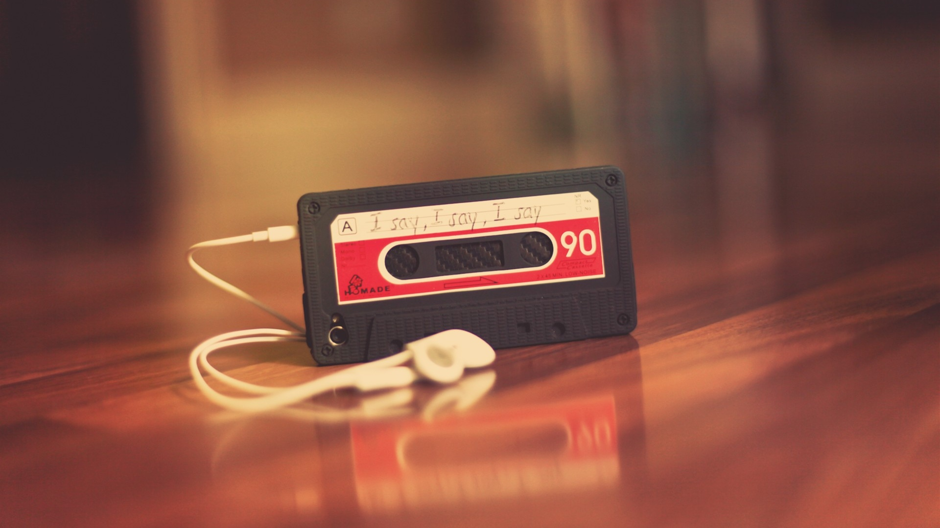 hd hintergrundbilder iphone handy kopfhörer kassette deckel 1920x1080