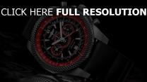 breitling uhren armbanduhren grau stahl rot