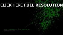 razer logo symbol muster schwarzes grün