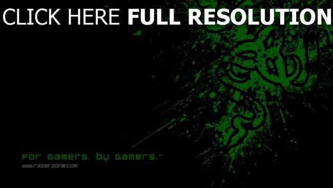 hd hintergrundbilder razer logo symbol muster schwarzes grün