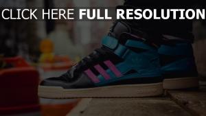 adidas turnschuhe hell schwarz blau rosa