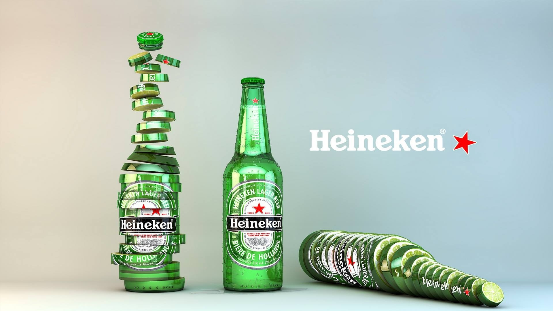hd hintergrundbilder heineken bier logo lime 1920x1080