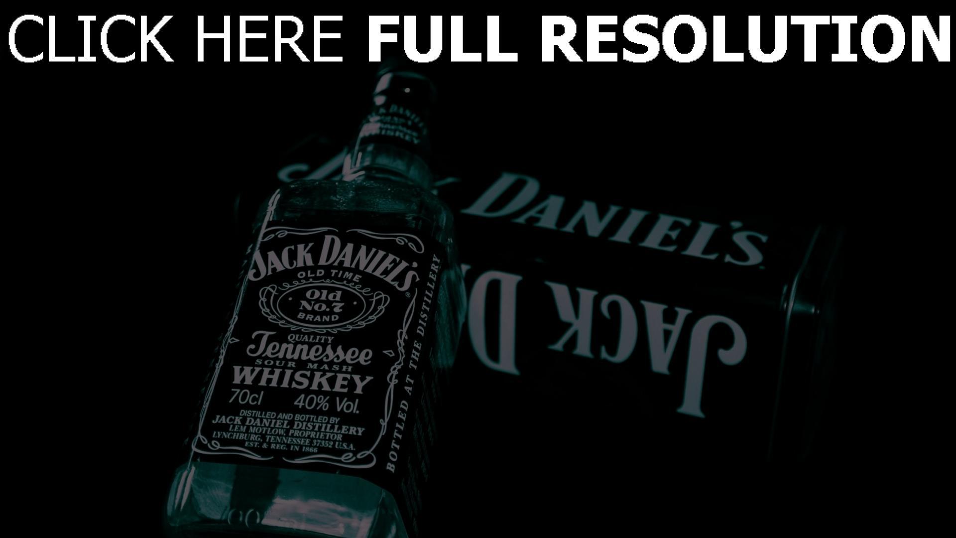 hd hintergrundbilder jack daniels flasche alkohol glas whisky 1920x1080