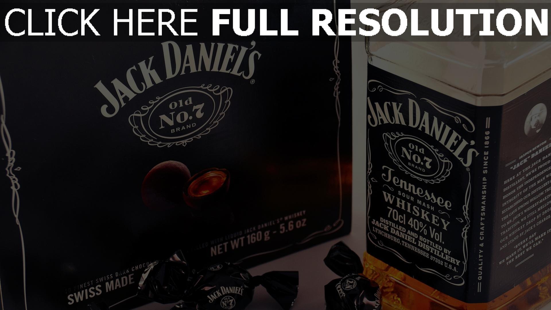hd hintergrundbilder jack daniels alkohol whisky flasche süßigkeiten 1920x1080