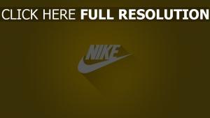 nike logos grafiken hintergrund gelb