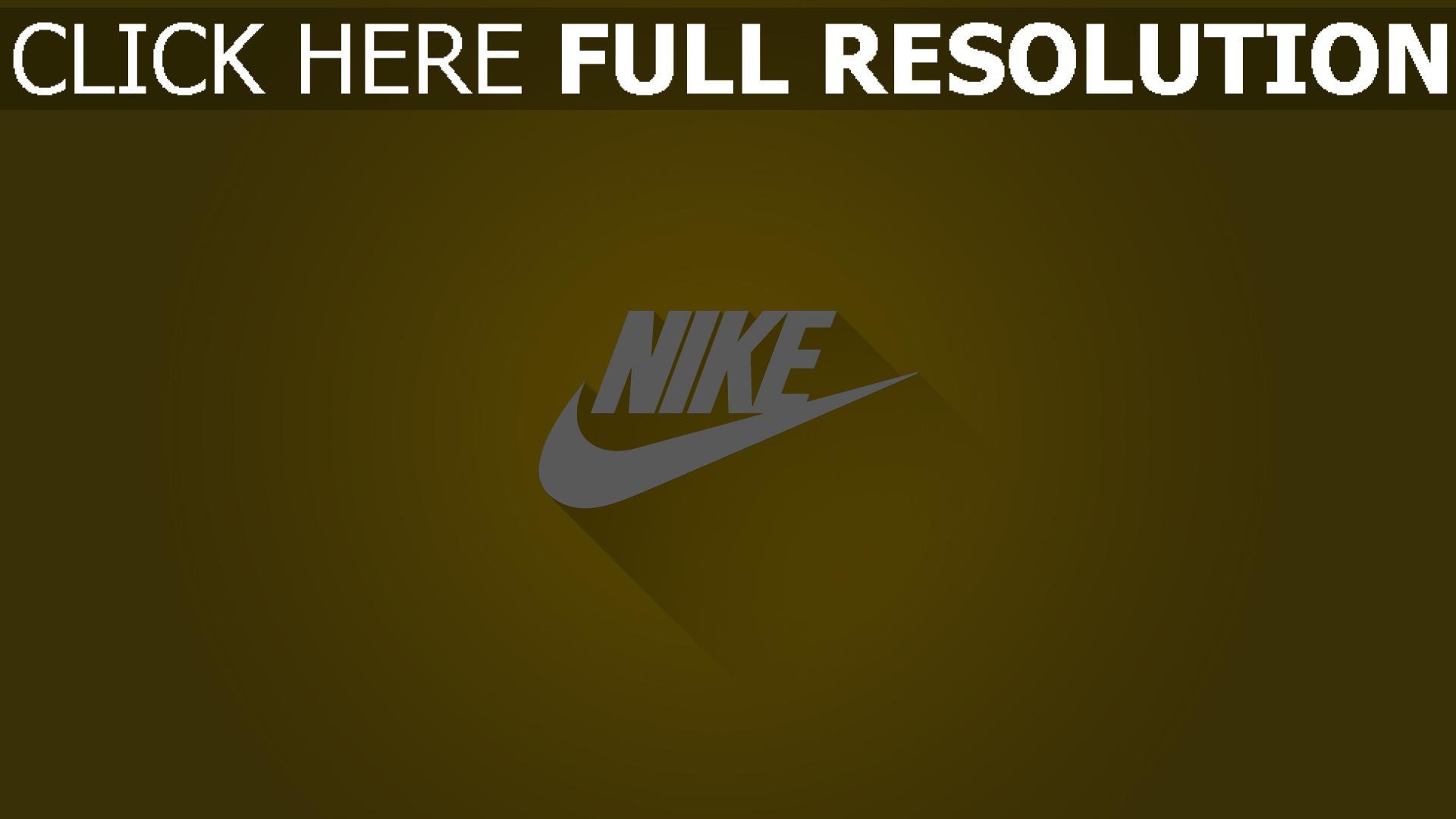 hd hintergrundbilder nike logos grafiken hintergrund gelb 1920x1080