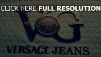 versace jeans logo form metall leder
