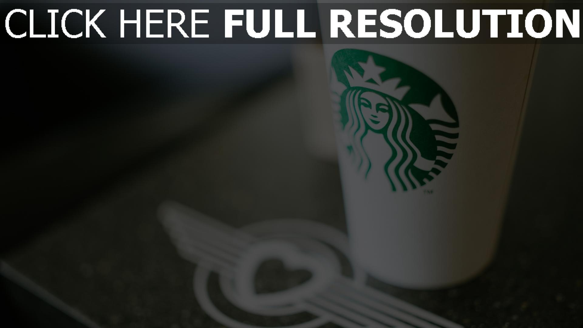 hd hintergrundbilder starbucks schale kaffee logo 1920x1080