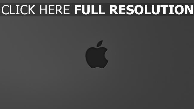 hd hintergrundbilder apple mac grau logo apfel