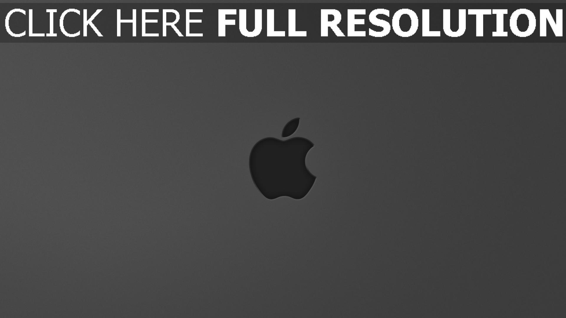 hd hintergrundbilder apple mac grau logo apfel 1920x1080