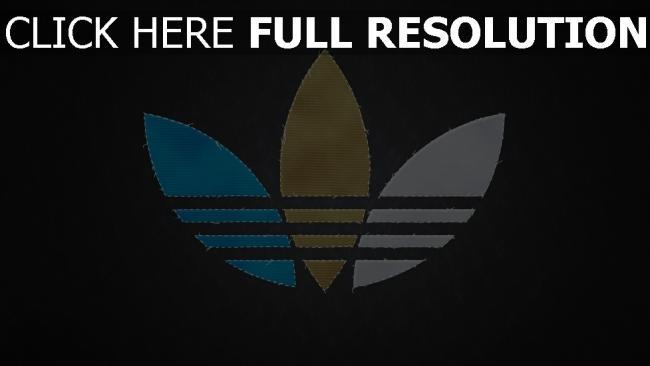 hd hintergrundbilder adidas logo stoff nähten unterschiedlich farben