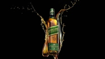 johnnie walker green label whisky alkohol flasche