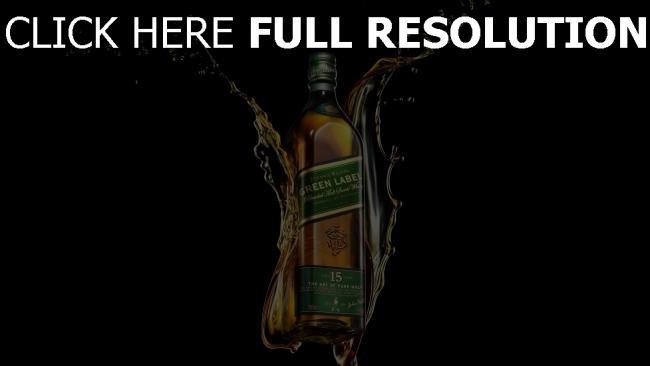 hd hintergrundbilder johnnie walker green label whisky alkohol flasche