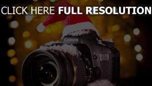canon eos 7d kamera schnee kappe pailletten