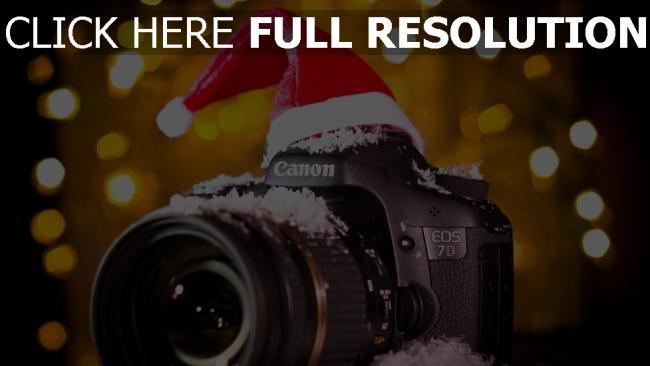 hd hintergrundbilder canon eos 7d kamera schnee kappe pailletten