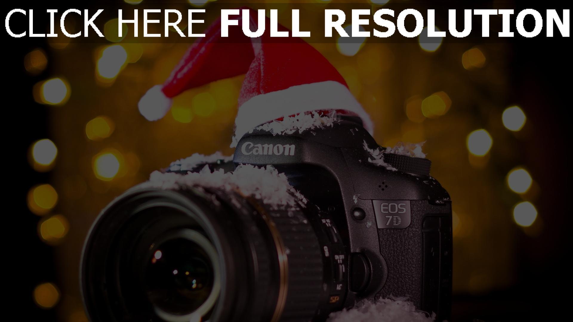 hd hintergrundbilder canon eos 7d kamera schnee kappe pailletten 1920x1080
