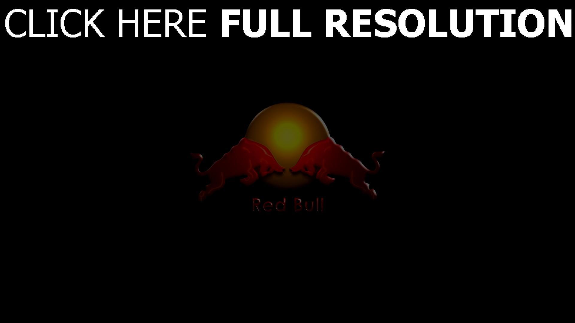hd hintergrundbilder red bull getränke energie logo stiere 1920x1080